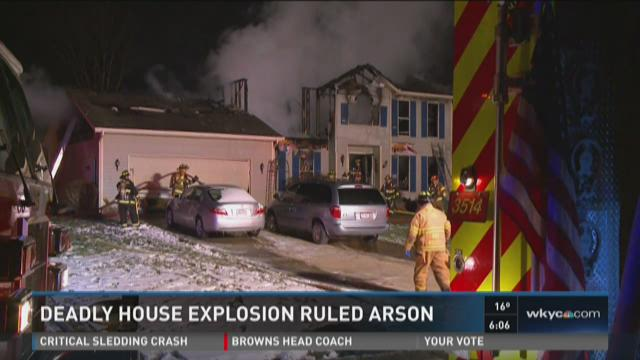 Deadly house explosion ruled arson