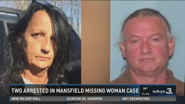 Couple arrested in missing Mansfield missing woman case