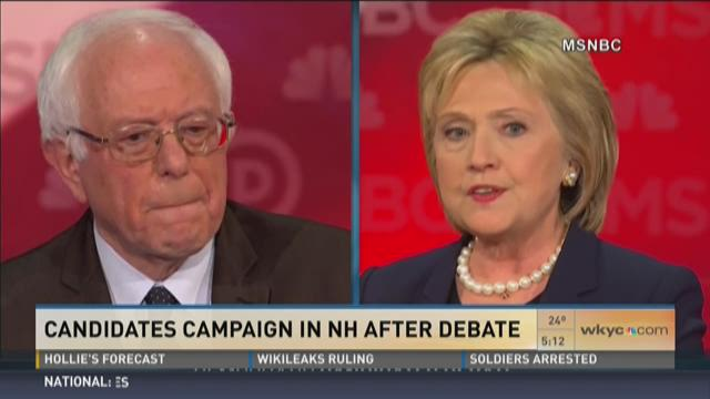 Candidates campaign in NH after debate