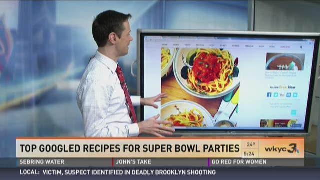 Top Googled Super Bowl recipes