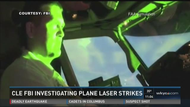 Cleveland FBI investigating laser strikes at planes