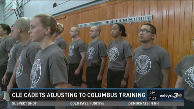 Cleveland police cadet training continues in Columbus