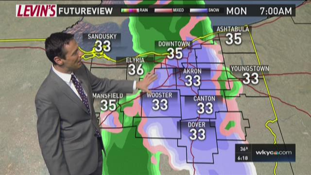 6 p.m weather forecast for February 6, 2016