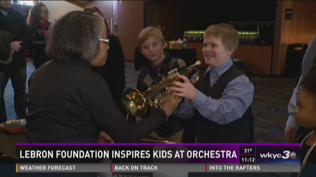 Lebron foundation inspires kids at orchestra