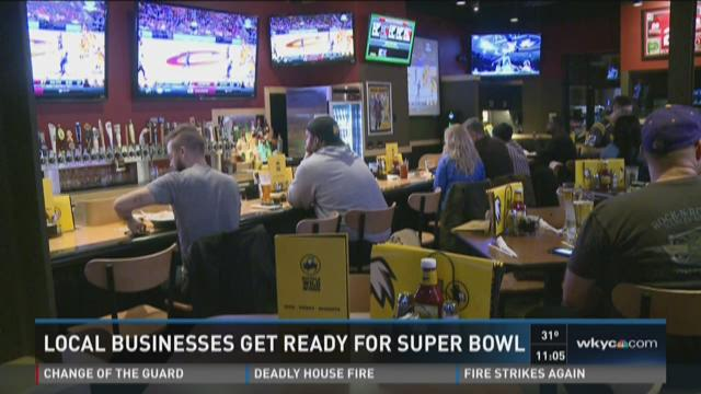 Local business get ready for super bowl