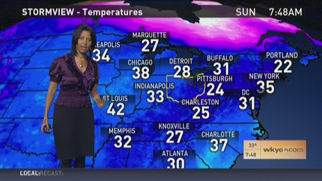 Morning weather forecast for February 7, 2016
