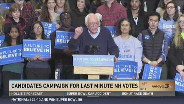 Candidates campaign for last minute NH votes
