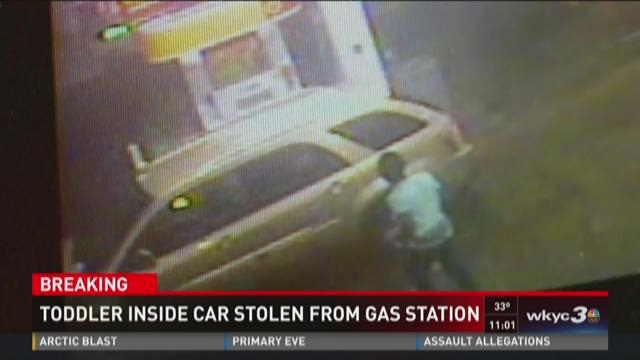 Car stolen from gas station with child inside
