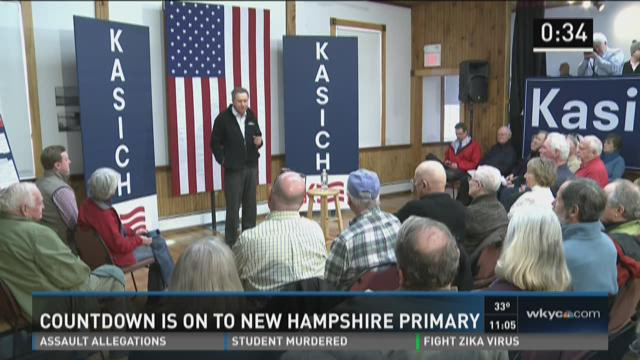 Kasich hoping for second place finish in New Hampshire primary