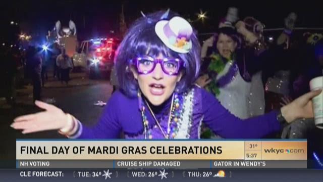 Final day of Mardi Gras celebrations