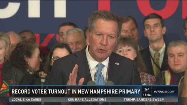 Kasich finishes second in New Hampshire primary