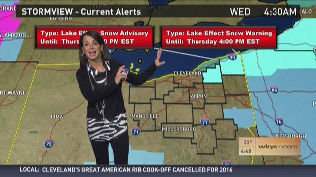 Morning weather forecast for February 10, 2016