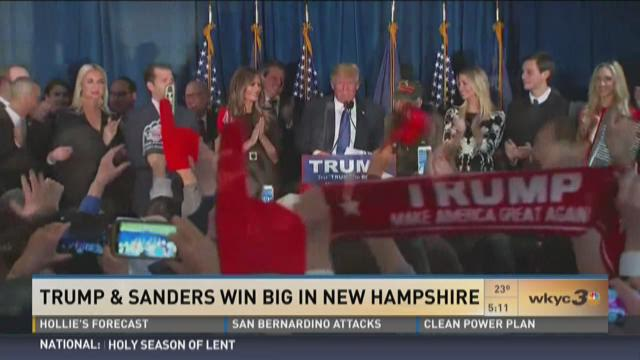 Trump and Sanders win big in New Hampshire