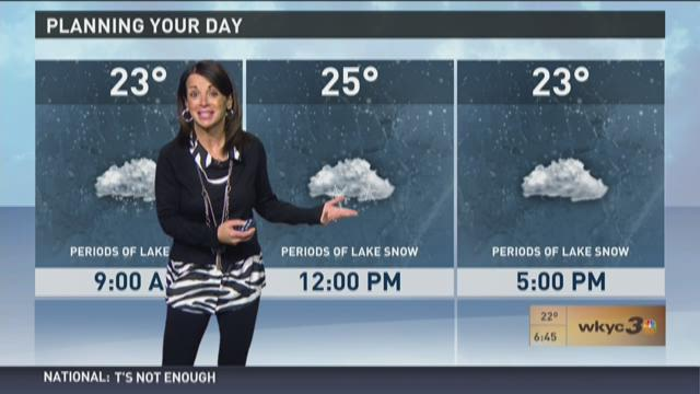Late morning weather forecast for February 10, 2016
