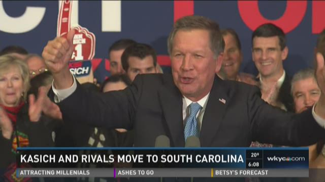 Kasich and rivals move to South Carolina