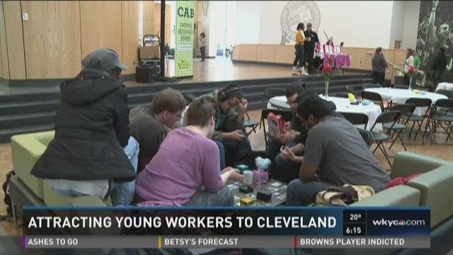 Attracting young workers to Cleveland