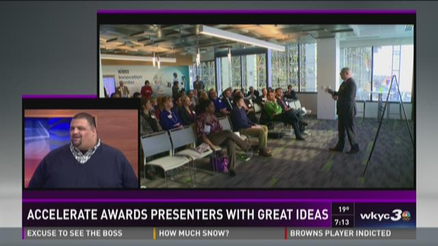 Accelerate awards presenters with great ideas