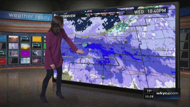11 p.m. weather forecast for February 10, 2016