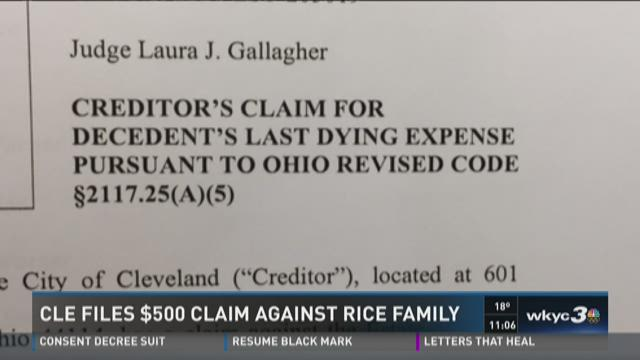 Cleveland wants Tamir Rice estate to pay for his 'last dying expense'