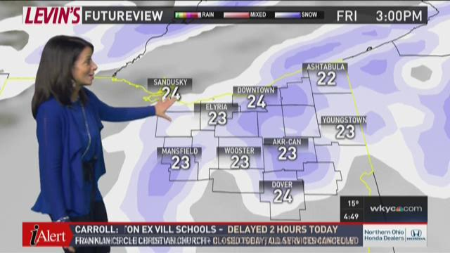 Early morning weather forecast for February 11, 2016