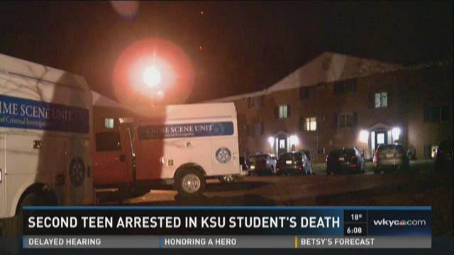 Second teen arrested in KSU student's death
