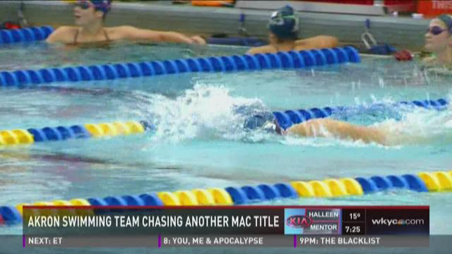 Akron swimming team chases another MAC title