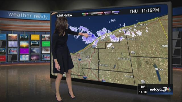 11 p.m. weather forecast for February 11, 2016