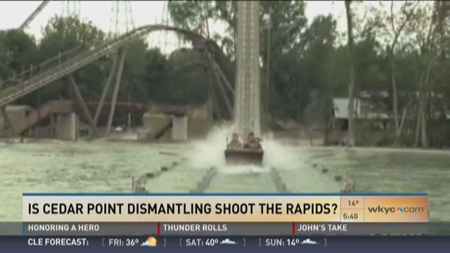 Cedar Point tearing down Shoot the Rapids ride?
