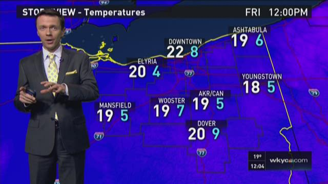 Noon weather forecast for February 12, 2016