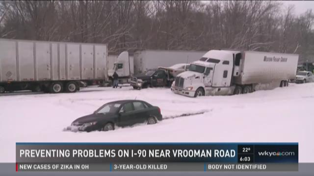 Searching for solutions on I-90 near Vrooman