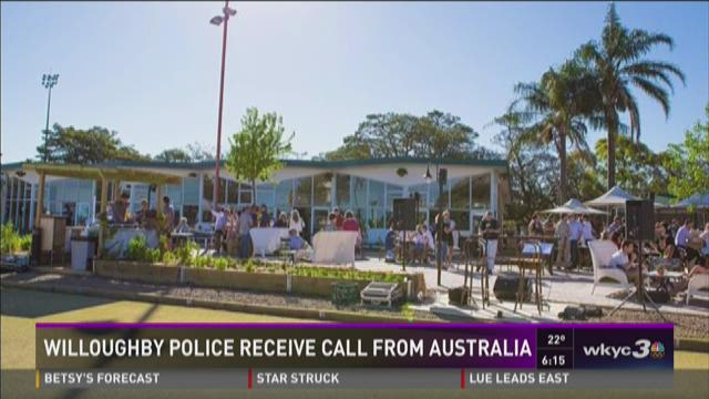 Willoughby police gets call from Australia