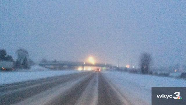 Lake County road conditions amid cold temperatures