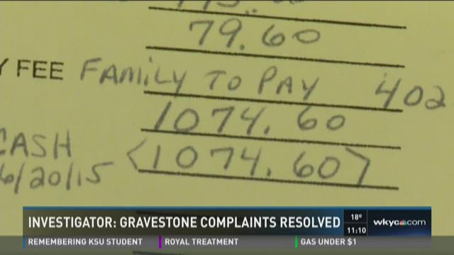 Investigator I Complaints about gravestones finally resolved