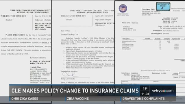 Cleveland makes policy change to insurance claims