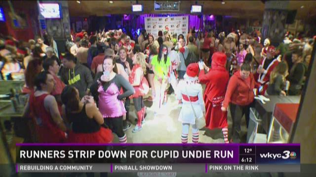Runners strip down for Cupid's Undie Run