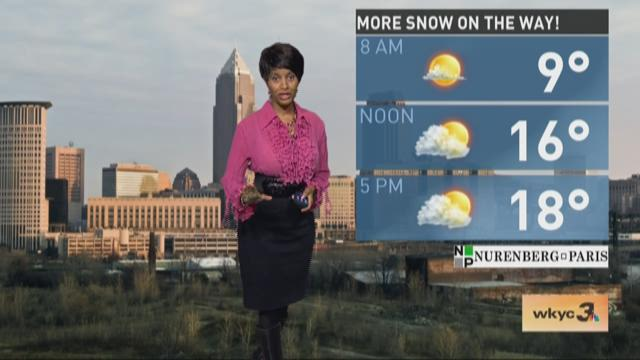 Afternoon weather forecast for February 14, 2016