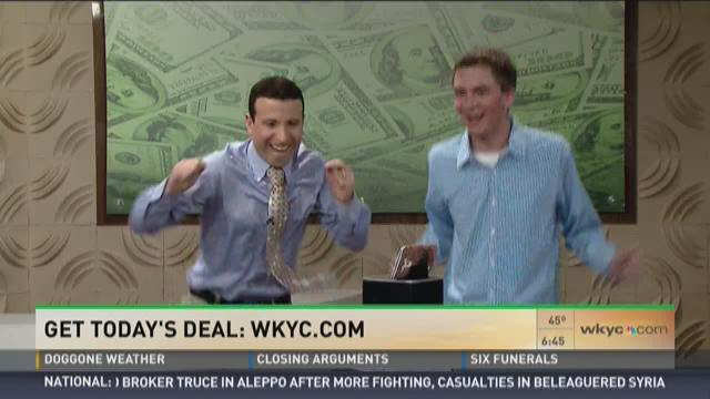 Matt and Andrew dance to a deal