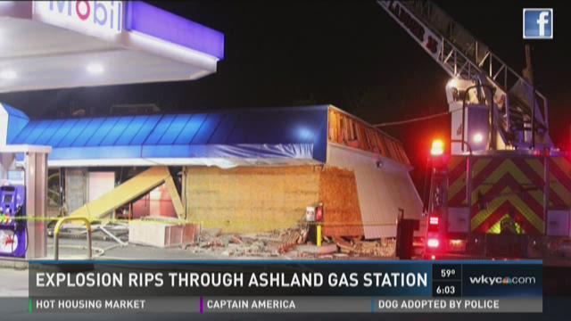 Explosion rips through Ashland gas station