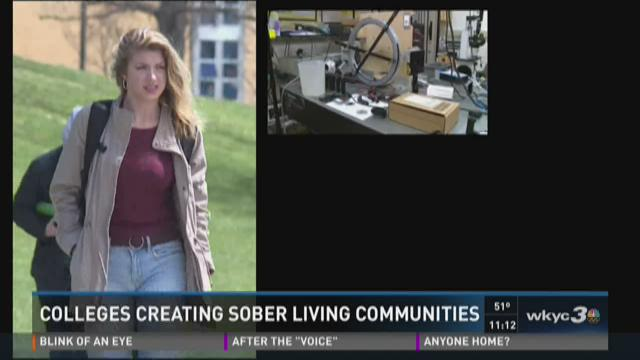 Colleges creating sober living communities