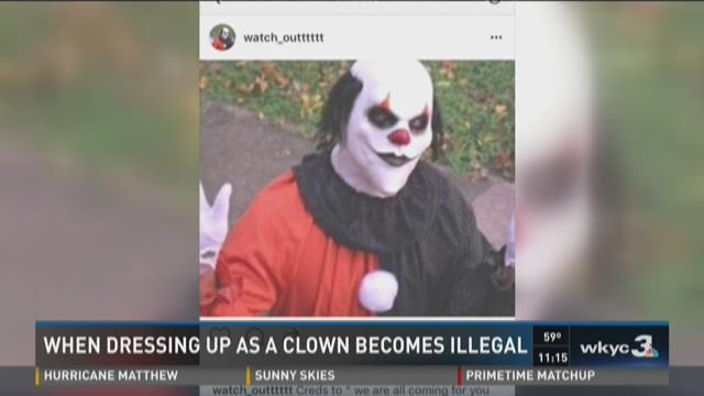 When dressing up as a clown becomes illegal | WKYC.com