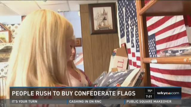 People rush to buy Confederate flags
