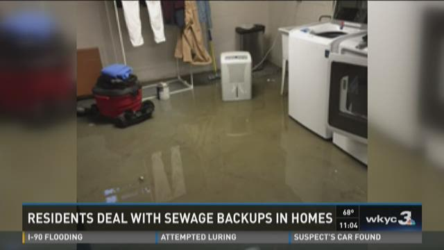 Sewage, storm water flood local homes