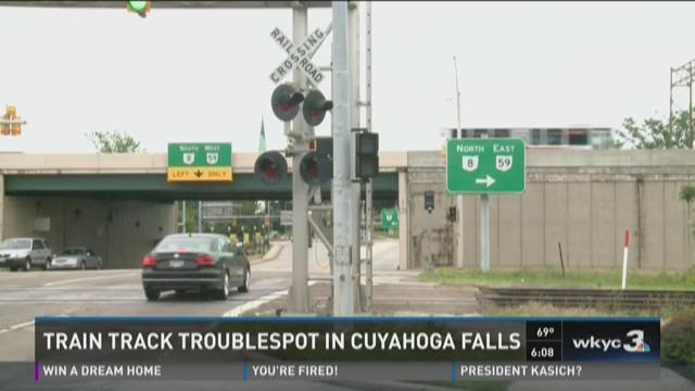 Cuyahoga Falls: 21 accidents at problematic RR crossing