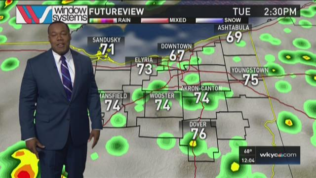 Noon weather forecast for June 30, 2015