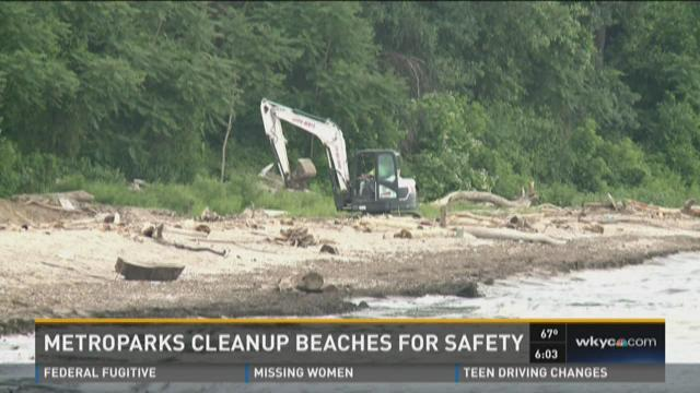 Metroparks cleanup beaches for safety