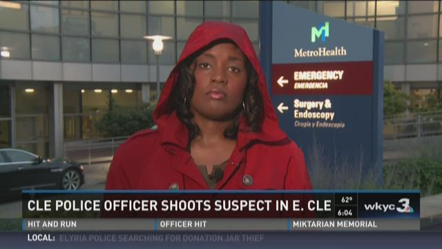 Cleveland officer shoots wanted suspect