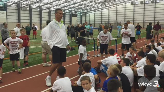 Urban Meyer and Dean Hood Youth Football Camp