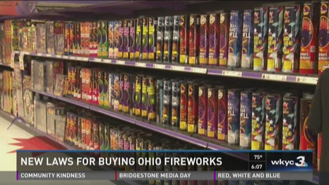New laws for buying fireworks in Ohio