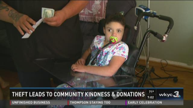 Theft leads to community kindness and donations