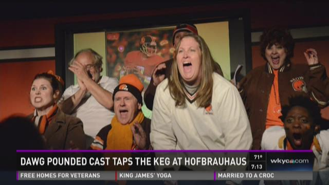 Dawg Pounded cast taps the keg at Hofbrauhaus